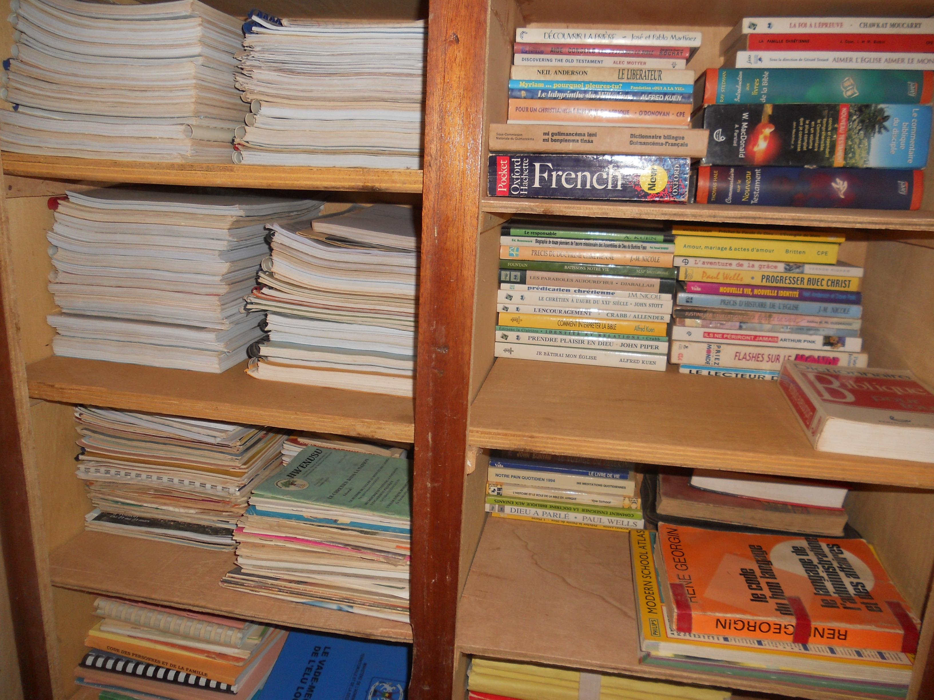 Book shop for self help agriculture etc books  ASAP, Burkina Faso via Lankao